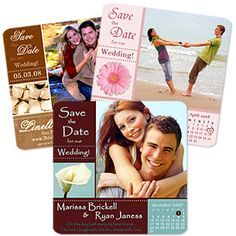 Save the date magnets...a really great idea so no one can possibly forget.