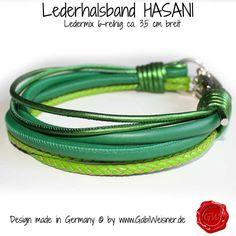 Lederhalsband Hasani Ledermix 6-reihig