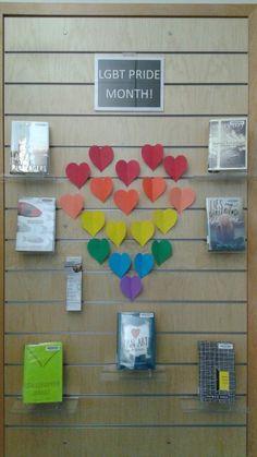 YA LGBT pride month display #pridemonth #LGBTpride #YAlibrarydisplay
