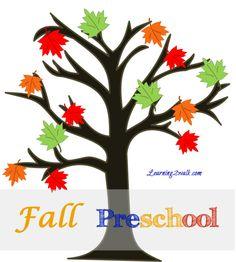 Fall Theme Preschool Printable Kit (Subscriber Freebie)