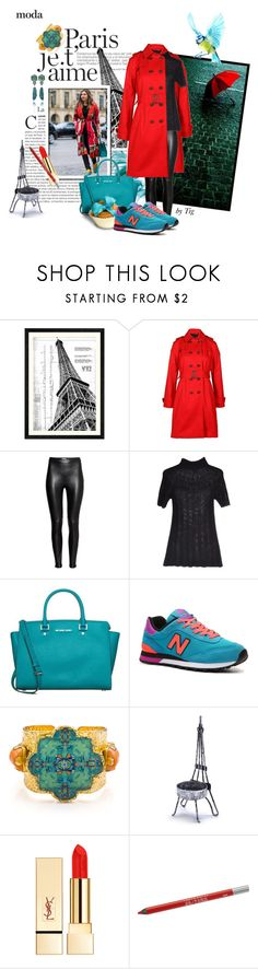 """""""Nasiba Adilova affordable street-style"""" by theitalianglam ❤ liked on Polyvore featuring Universal Lighting and Decor, Joules, H&M, Philosophy di Alberta Ferretti, MICHAEL Michael Kors, New Balance, Tilayo, Sur La Table, PUR and Urban Decay"""