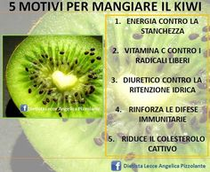 5 motivi per mangiare il #kiwi!!! #frutta #alimentazione #nutrizione #dieta #salute #mangiaresano Healthy Cooking, Healthy Tips, How To Stay Healthy, Health Advice, Health And Wellness, Health Fitness, Massage Business, In Natura, Fit Girl