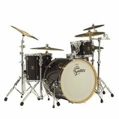 """Gretsch 4pc Catalina Club Rock Shell Pack by Gretsch. $849.00. Gretsch's Catalina Club Rock kit features mahogany shells and 30 degree bearing edges for a deep, warm, classic rock sound. This 4-piece configuration gets back to groove basics with big drums for big grooves. The 13"""" tom is mounted onto the bass drum with Gretsch's ball-socket single tom holder for efficient tom placement and stability. This tom also includes mini GTS tom suspension system to maximize to..."""