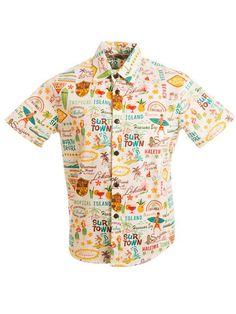 7fcb2021 [Exclusive] Slim Fit Hawaiian Shirt ['Round Da' Islands / Beige] - Women's Hawaiian  Shirts - Hawaiian Shirts | AlohaOutlet SelectShop