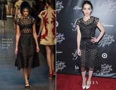 Emilia Clarke In Dolce & Gabbana - 'Breakfast At Tiffany's' Broadway Opening Night