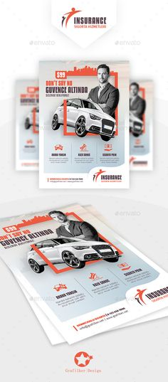 Insurance Flyer Template PSD, InDesign INDD. Download Here: https://graphicriver.net/item/insurance-flyer-templates/17794013?ref=ksioks