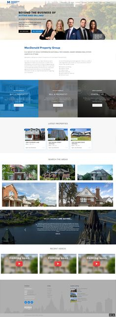 New WordPress website for the MacDonald Property Group of Ottawa, ON. Integrated with the MyRealPage IDX feed. Designed and optimized to attract visitors. Unique one page, buyer and seller pages to avoid drop down menus. Real Estate Site, Property Search, Ottawa, Townhouse, Wordpress, Buy And Sell, Drop, Website, Unique