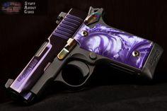 Stuff About Guns – Sig Sauer Purple Pearlite Pistol Rifles, Revolver, Purple Gun, Sig Sauer P238, My Pool, Cool Guns, All Things Purple, Purple Stuff, Guns And Ammo