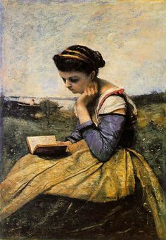 Reading Woman by Corot