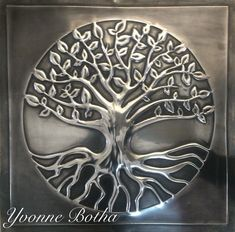Pewter tree , commissioned wedding gift done by Yvonne Botha - Mimmic Gallery and Studio