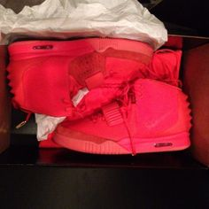 "Kim Kardashian Offers New Look at Nike Air Yeezy 2 ""Red October"""