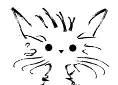 beautiful sketch of a cat - would be a cute tattoo!!