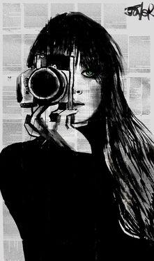 "Saatchi+Art+Artist+Loui+Jover;+Drawing,+""lens""+#art"