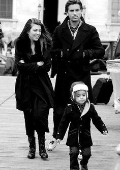 Kourtney Kardashian With Mason & Scott In Paris Adorable <3