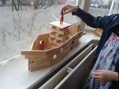 Stoomboot van kapla bouwen.