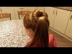Saç Modeli 14 (#1) - Basit topuz modeli, Easy bun hairstyle/Fermoon fermoon hairstyles for girls