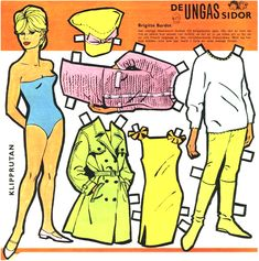 Brigitte Bardot paper doll.