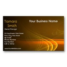 Yellow And Orange Fire Glow-Business Card Template - Let your business cards reflect how special your business is.