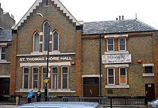 Pre-construction. The old St Thomas More Hall.