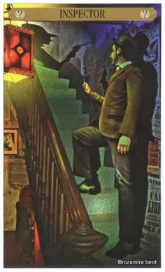 King of Pentacles  - Sherlock Holmes Tarot by John Matthews and Wil Kinghan