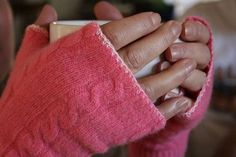 How to Upcycle Your Old Sweaters Into New Accessories: Turn an old sweater into fingerless gloves