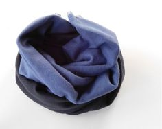 Cotton Scarf  Blue Black / Hand-Dyed Large Raw by lucilakenny