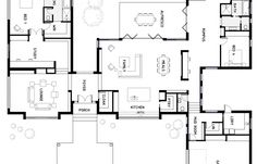 Floor Plan Friday: Kids at the back, parents at the front! Dream House Plans, Modern House Plans, Small House Plans, House Floor Plans, My Dream Home, The Plan, How To Plan, Home Design Floor Plans, Plan Design