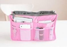 Toiletry Kit Travel Necessaries Necessaire For Women Make Up Makeup Cosmetic Bag In Bag Purse Organizer Beauty Case Pouch Vanity Bags Travel, Travel Handbags, Pink Handbags, Travel Cosmetic Bags, Cosmetic Storage, Travel Packing, Travel Purse, Travel Kits, Makeup Storage