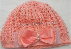 gorrita tejida gorra con moño tejido a crochet