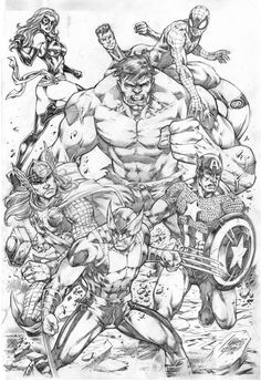 Marvel Heroes by Marcio Abreu