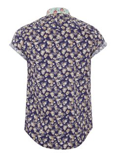 Topman - Blue Rose Print Short Sleeve Shirt €36