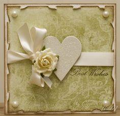 Et bryllupskort :) Papir og rose fra Prima, hjerte og tekststempel fra MF.
