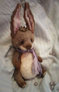 Teddy Bunny Little Prince By Anna Davidenkova - Bear Pile