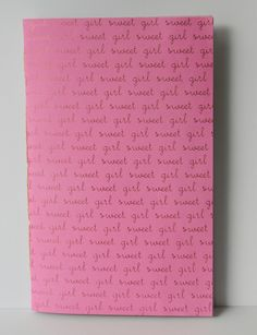 Baby's First Journal Bubble Gum Pink with Pink by CaliClothShop  #babysjournal #babyjournal #babygirl #babystationary #bubblegum #pinkfoil #printedjournal #printednotebook #babybook #sketchbooks