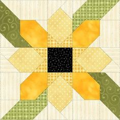 Image result for sunflower quilt block patterns 12