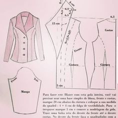 Pattern Drafting Tutorials, Sewing Tutorials, Blazer Pattern, Pants Pattern, Sewing Pants, Sewing Clothes, Dress Sewing Patterns, Clothing Patterns, Sewing Collars