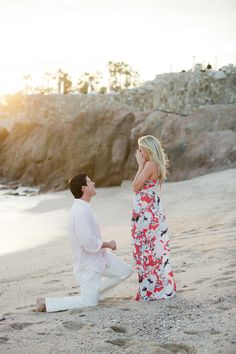 Surprise Proposal Stories always make us giddy! See the full story here:  http://www.StyleMePretty.com/little-black-book-blog/2014/05/22/cabo-san-lucas-surprise-proposal/ Sara Richardson Photography - sararichardsonphoto.com