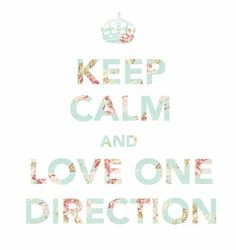 Twitter / flopyvalle: Keep Calm And Love One Direction