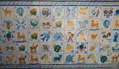Panneau de azulejos, école nº 29, jardim do Torel. Photo de Ana Luísa Alvim