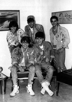 Junto a Menudo en 1988.