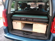 Bushcraft Blog, Survival Skills, Tutorials And Reviews: Amdro Boot Jump Camper Conversion For Citroen Berlingo MPV