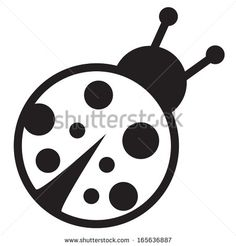 Cute Ladybug Clipart Black And White Cute Icon Of Isolated Ladybird - Clipart Suggest Cute Tattoos, Black Tattoos, Small Tattoos, Tatoos, Lady Bug Tattoo, Clipart Black And White, Printable Labels, Printables, Tattoos