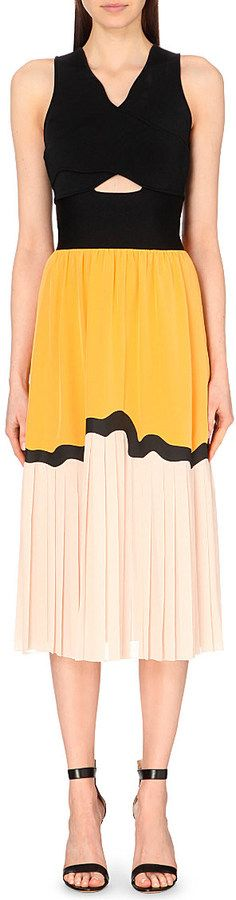 Issa Veda Stretch-Knit and Chiffon Dress - for Women on shopstyle.com