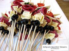 antipasto appetizer Skewers @createdbydiane