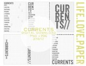 Image of Currents Project Life Journaling Cards Digital Dowload