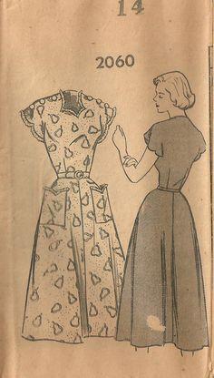 Vintage 40s Mail Order Sewing Pattern 2060 by studioGpatterns