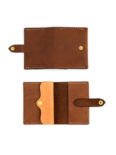 2197b80c5 Mens Bifold Wallet, Leather Minimal Wallet, Brown Leather Coin Purse  Minimimalist Card Holder, Mens Coin Purse, Birthday Gifts for Boyfriend