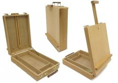 Zen Art Supply Desktop Artist Easel Wooden Portable Stand Student Painting - Go Shop Crafts Sketch Box, Wooden Display Stand, Table Easel, Wooden Easel, Wooden Boxes, Student Drawing, Types Of Art, Type Art, Zen Art