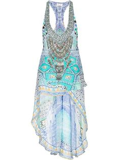 Compre Camilla asymmetric printed vest  em  from the world's best independent boutiques at farfetch.com. Shop 300 boutiques at one address.