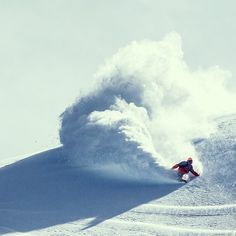 Super cloud powder turn. Photo: Andy Wright #snowboard